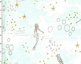 Michael Miller - Magic! by Sarah Jane - Mermaid Magic - Mist (Metallic)