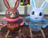 Personalized Children's Easter Bunny Sippy Cup