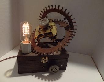 Awesome Steampunk Industrial Geaar Lamp