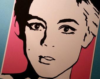 Edie Sedgwick Art Print Pink