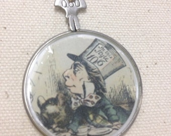 Mad Hatter Antique Optical Lens Necklace