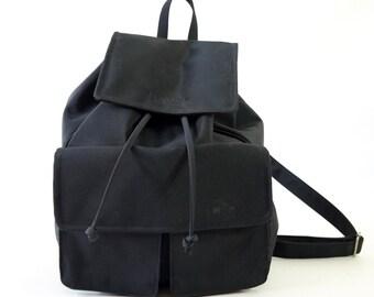Shiny Black 90s Mega Backpack