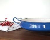 dansk paella pan - kobenstyle dansk - blue - enamel cookwear
