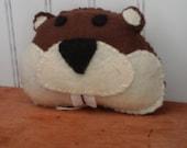 Felt Beaver Ornament