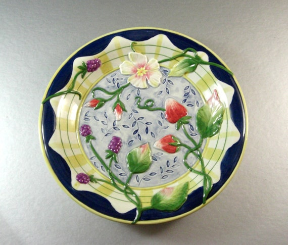 Fitz and floyd somerset summer flowers canape plate dish tray for Where can i buy canape cups