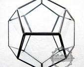 1pcs 20x20x17cm geometric 12 face cutting glass terrarium flower arrangement air plant planter greenhouse home decoration 0100019