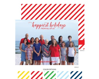 Customizable Holiday Photo Card - Happiest Holidays Script