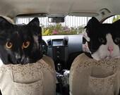 Car headrest cover, cat headrest cover, pet headrest cover, HR-806