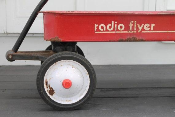 Vintage Radio Flyer 90 Wagon Coaster Wagon Rustic Old
