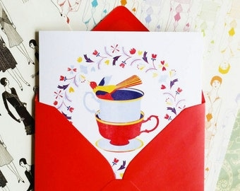 My Cup of Tea! Greeting card or greeting card set