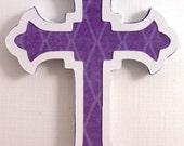 6 Cross Embellishment, Die Cut, Vintage