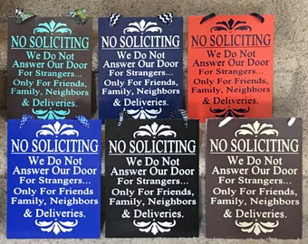 No Soliciting No Solicitation Sign with Ribbon