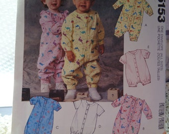 Easy McCall's 5153 UNCUT Infants Jumpsuits and Romper