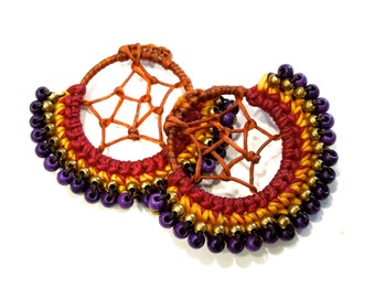 VINTGE: 2 Beaded Earring Loops - Native American Design - Earring Loops -  (16-A2-00005114)