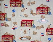 Animal Crackers Sheet Twin Flat Sheet  Animal Fabric Kids Sheets Character Fabric