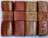 Pink, Red and Gold Sari borders, Vintage Borders SR356