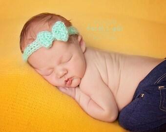 Newborn Lace Bow Headband