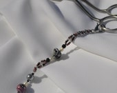Beaded Dangle for Rug Hooking Scissors w/ Black Sheep