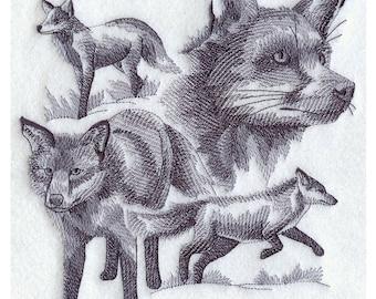 Custom Embroidered Fox Sweatshirt S-3XL
