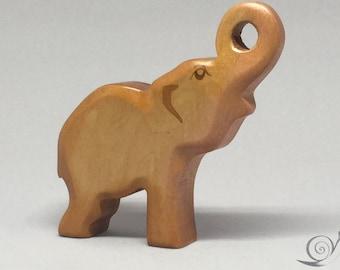 Toy Elephant wooden grey  Size: 10,0 x 9,0 x 2,0 cm (bxhxs)  approx.  50,0 gr.