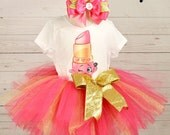 shopkins birthday outfit, FREE SHIPPING birthday outfit,birthday girl outfit, shopkins birthday tutu,hot pink tutu,girl birthday outfit