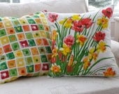 Spring Daffodils 16 inch and Spring Squares 18 inch