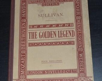 Handel The Golden Legend Vocal Score, Sullivan, c1889 Hardback, London Novello & Co Ltd, Bach,Old vintage book