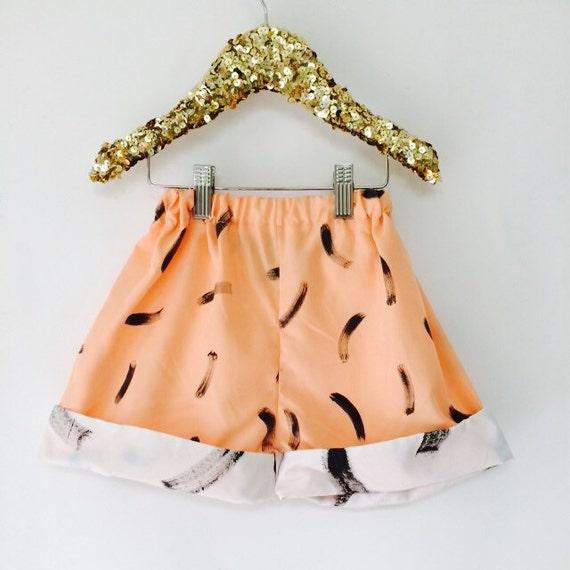 DANCE 4-6 Years Kids Childrens Shorts Pants Cullottes Cotton Pattern Unisex