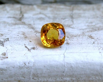 RESERVED - Loose Gemstone Natural Yellow Sapphire - 1.62ct.