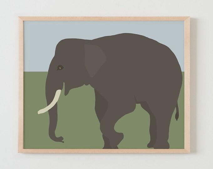 Fine Art Print.  Elephant.  December 2, 2015.