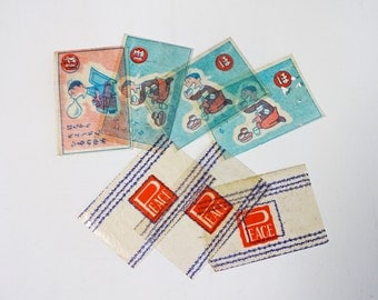 1930's Japanese Vintage 7pc Children Toy Wax Paper