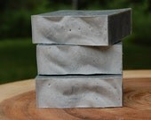 Charcoal + Himalayan Salt Acne Facial Soap, Detox, Handcrafted All Natural Cold Process Soap