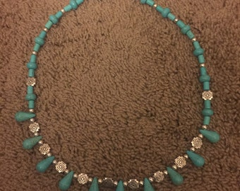 Turquoise (Dyed Howlite) Necklace