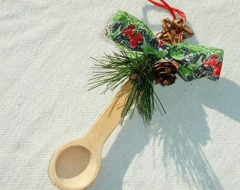 Handmade Kitchen Spoon Christmas or Yule Ornament