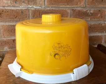 Yellow Vintage Cake Carrier