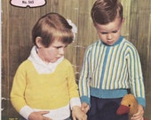 Paton's Knitting Pattern No 565 For Children Boys and Girls Aged from 18 months to 6 years (Vintage 1950s)