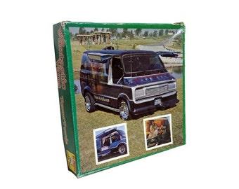 SALE Vintage Jigsaw Puzzle - Vintage Vantastic Vans Puzzle, 1970's Custom Van, Truckin Magazine, Vini Bergemen, Kolor Me Kustom, Kar Kustom