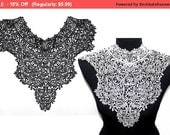 SALE Lace Crochet  Collar for Shirt Blouse Dress Collar sewing and crafting