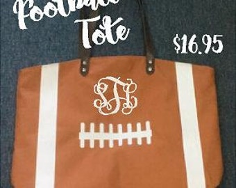 Football Tote... monogrammed (embroidered)