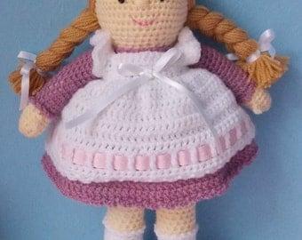 Rebecca the crochet rag doll