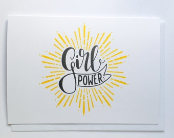 Greetings Card ~ Girl Power ~ Motivational Message ~ Inspirational Words