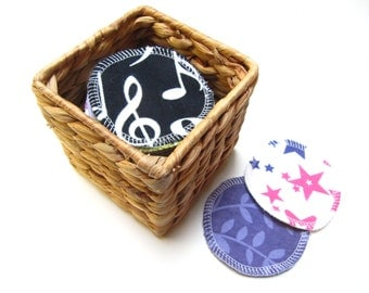 LARGE Reusable Facial Rounds, 30 Cosmetic Rounds, Makeup Remover Pads, Eco-Friendly Face Scrubbies 3 Inch Size, Add on WASH BAG