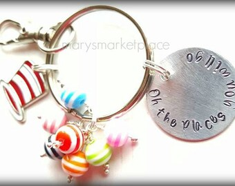 Oh the Places You Will Go Key Chain - Student Graduation Gift