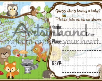 Nature Baby Shower Invitation