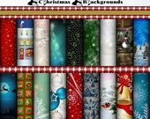 Christmas Backgrounds Digital Scrapbook Kit