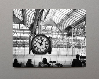 19 x 15 Print Clockface In Waterloo Train Station Large Photography Print Fine Art Photography Art Living Room Decor Large Wall Art Print