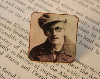 James Joyce brooch lapel pin hat pin Literature gift