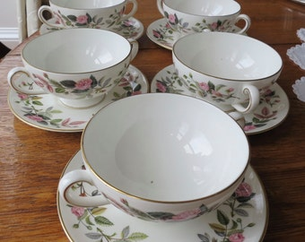 Wedgewood vintage china soup bowl and saucer