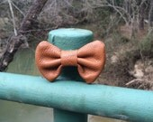 Leather Brown Bowtie