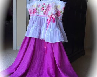 Once Upon A Time Sugar Plum Dress Rustic Romantik Swirly Twirly Sweet Heart Style